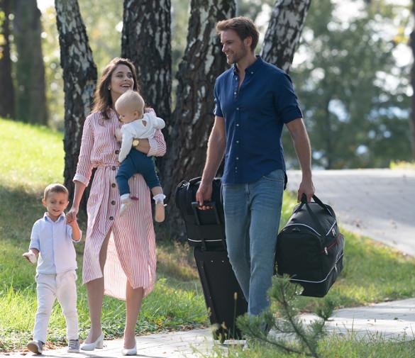 Familienset von Autotaschen