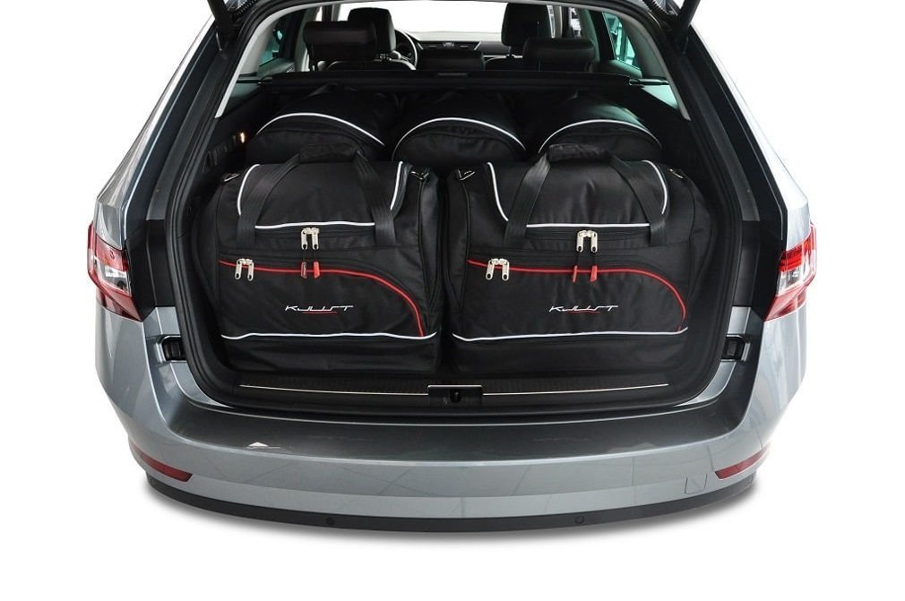kjust skoda superb kombi 2015 car bags set 5 pcs select car bags set skoda superb kombi. Black Bedroom Furniture Sets. Home Design Ideas