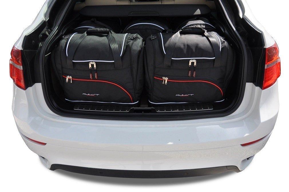 kjust bmw x6 2008 2014 kofferraumtaschen set 5 stk autotaschen sets bmw x6 e71 2008. Black Bedroom Furniture Sets. Home Design Ideas