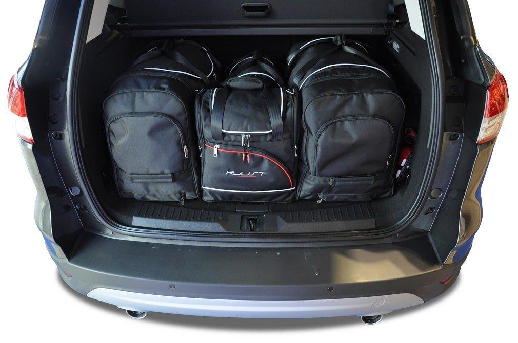 kjust ford kuga 2012 kofferraumtaschen set 4 stk autotaschen sets ford kuga ii 2012. Black Bedroom Furniture Sets. Home Design Ideas