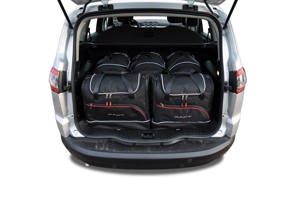kjust ford s max 2006 2015 kofferraumtaschen set 5 stk autotaschen sets ford s max 2006. Black Bedroom Furniture Sets. Home Design Ideas