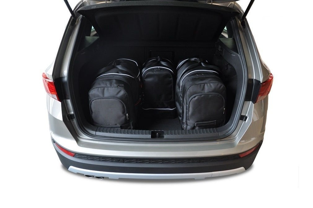 kjust seat ateca 2016 kofferraumtaschen set 4 stk autotaschen sets seat ateca 2016. Black Bedroom Furniture Sets. Home Design Ideas
