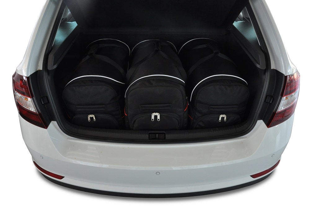 kjust skoda rapid spaceback 2012 kofferraumtaschen set 3 stk autotaschen sets skoda rapid. Black Bedroom Furniture Sets. Home Design Ideas