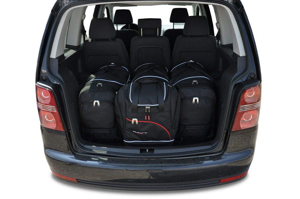 kjust vw touran 2003 2010 kofferraumtaschen set 4 stk autotaschen sets vw touran i 2003. Black Bedroom Furniture Sets. Home Design Ideas